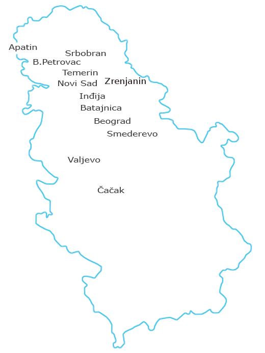 mapa srbije srbobran mapa mapa srbije srbobran